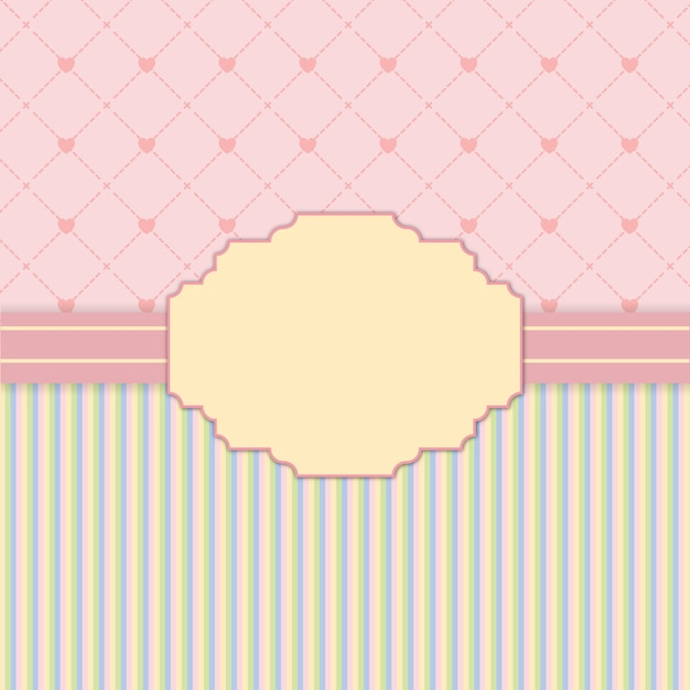 Pink frame in vintage style background Premium Vector