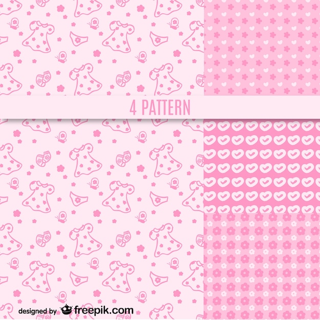 pink girly patterns free vector
