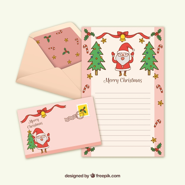 Pink Hand Drawn Letter Template With A Snowman Vector Free Download