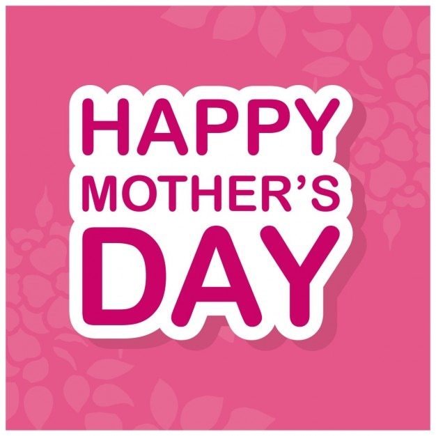 Pink happy mothers day background