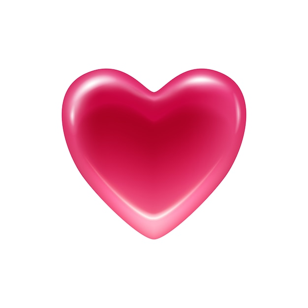 Pink heart jelly candy icon. Premium Vector