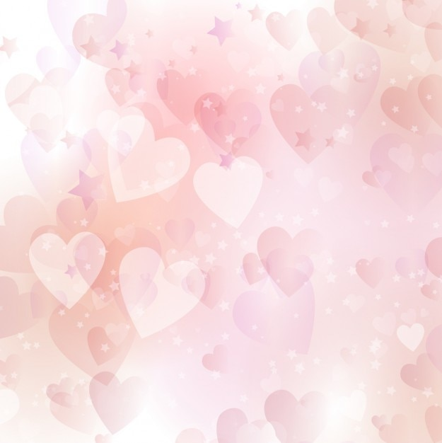 Pink hearts and stars background Vector | Free Download