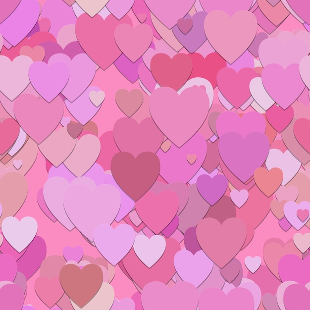 Pink hearts pattern background Free Vector
