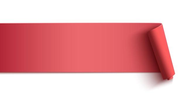 ピンクの水平バナー、白い背景で隔離のヘッダー。ポスター、背景またはパンフレットのテンプレート。 Premiumベクター