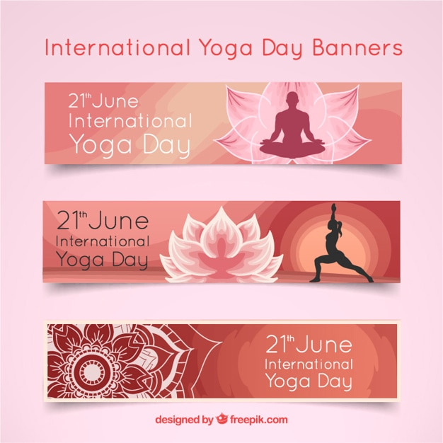 Yoga Day Banner Images Free Vectors Photos Psd