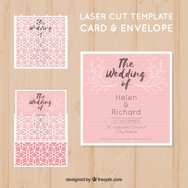 Pink laser cut template with envelope vector free download pink laser cut template with envelope free vector stopboris Choice Image
