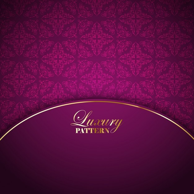 Pink luxury background with ornamental elements Free Vector