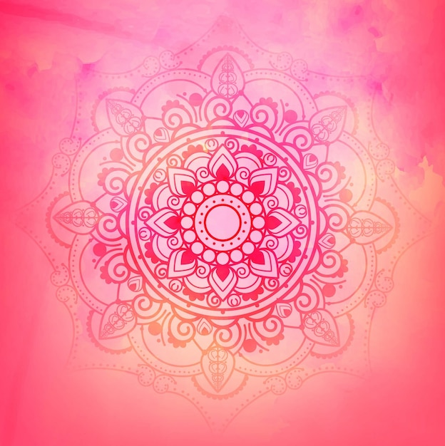 Pink Mandala Background Vector Free Download