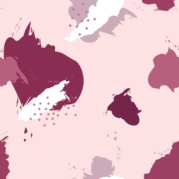 Pink memphis pattern Free Vector