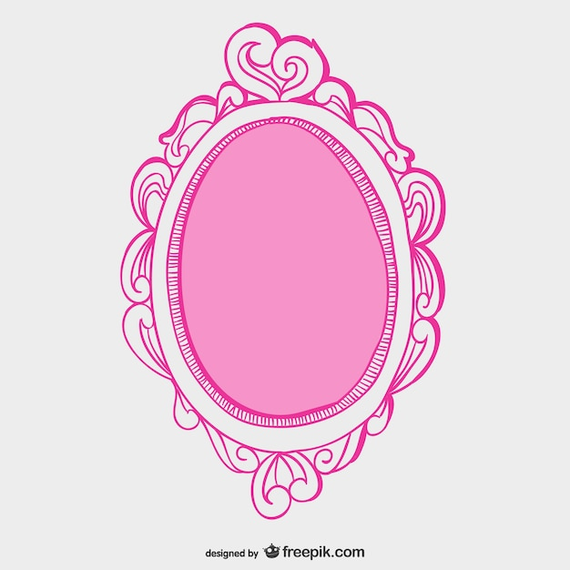 Pink mirror frame Free Vector