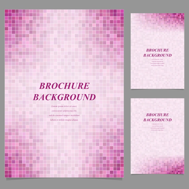 pink mosaic brochure background vector free download