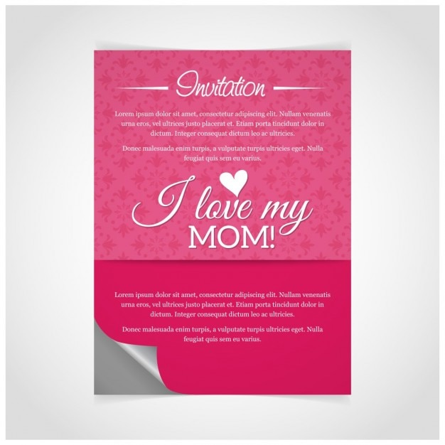 Pink mother party poster