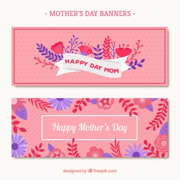 Pink mother\'s day banner