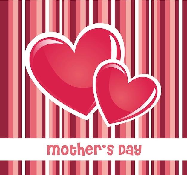 Pink mothers day card Premium Vector