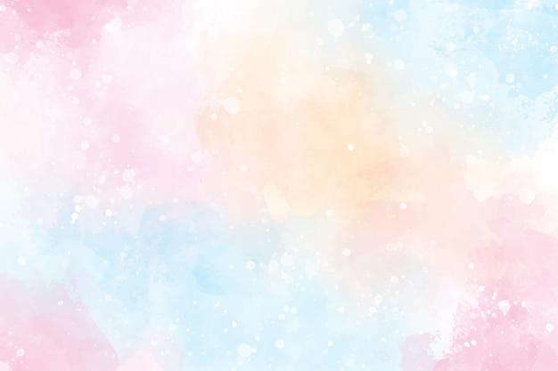 핑크 멀티 컬러 달콤한 사탕 발렌타인 젖은 세척 스플래시 수채화 배경 프리미엄 벡터