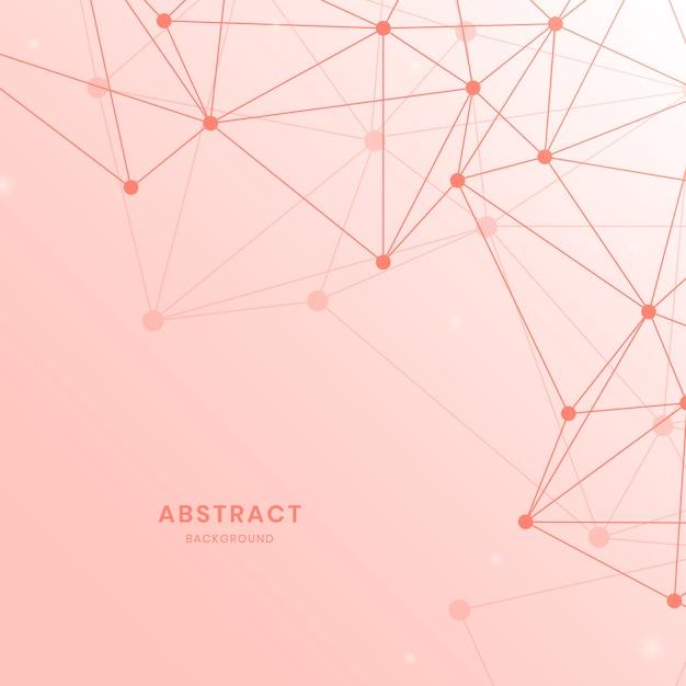 Pink neural network illustration Free Vector