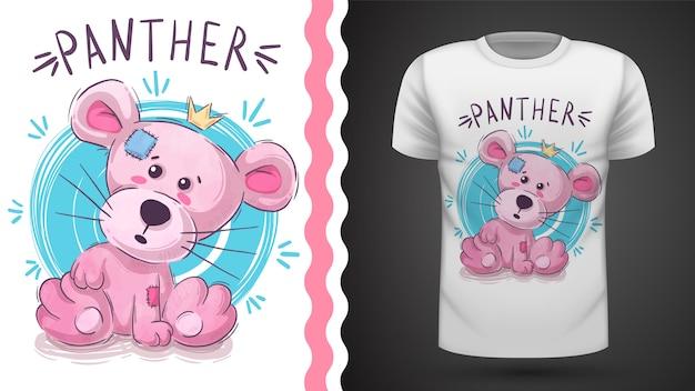 Pink panther idea for print t-shirt Premium Vector