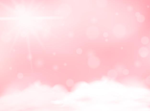 ピンクのパステルカラーぼやけた背景空白のテンプレート Premiumベクター