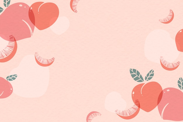 Pink peach background Free Vector