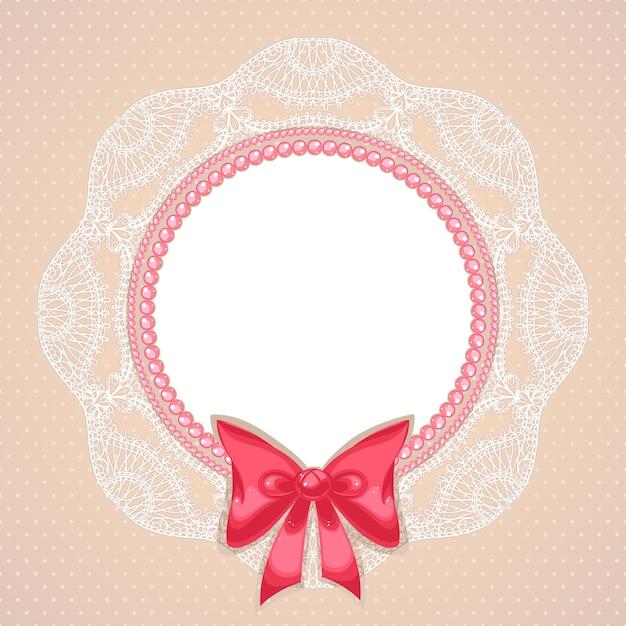 Розовый жемчуг в плоском дизайне Premium векторы