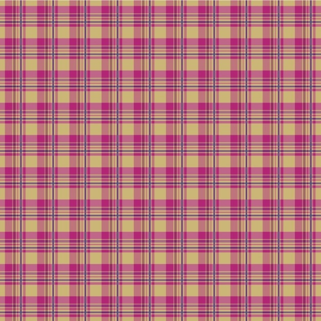 Pink plaid pattern Free Vector