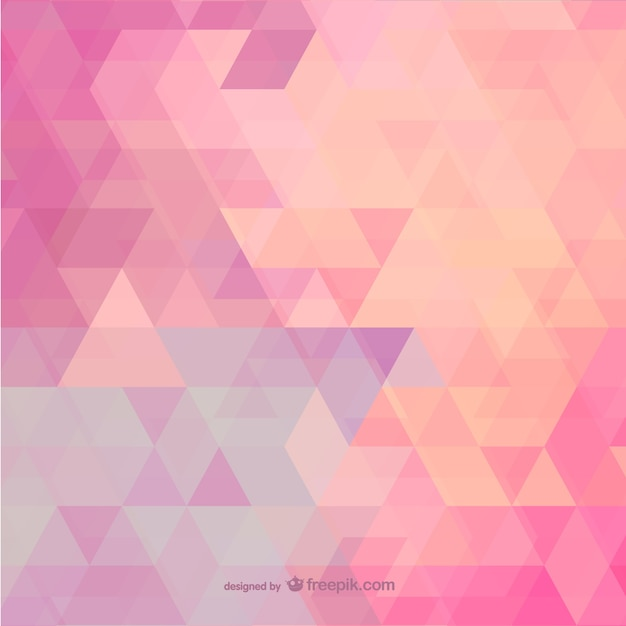 Pink polygonal background Free Vector