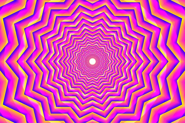 Pink psychedelic optical illusion background Premium Vector