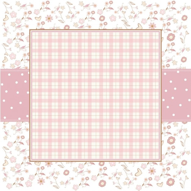 Pink romantic background with little\ flowers