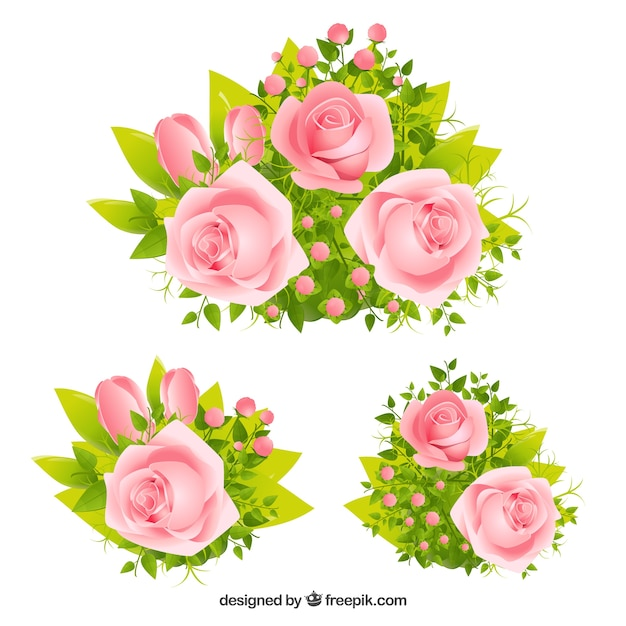 pink roses vector | free download
