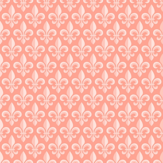 Pink seamless pattern with royal lily Premium Vector