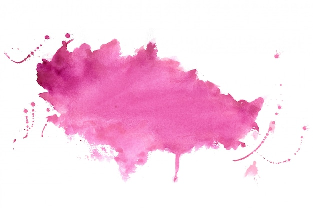 Pink shade watercolor stain texture background design Free Vector