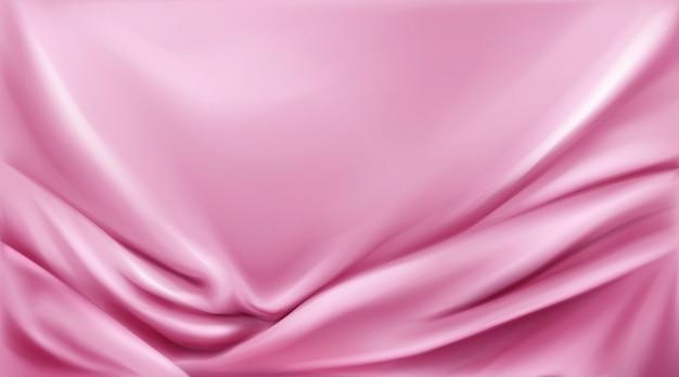 Розовый шелк сложенный фон ткани роскошные ткани Бесплатные векторы