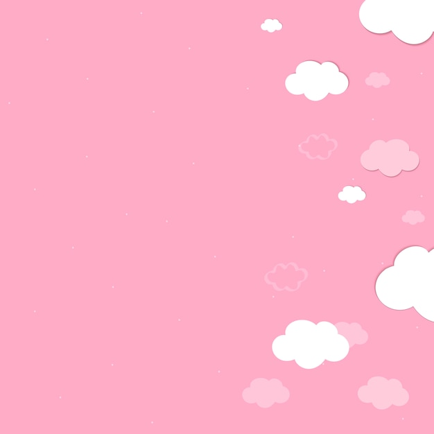 Pink Sky With Clouds Wallpaper Vector Vector Free Download