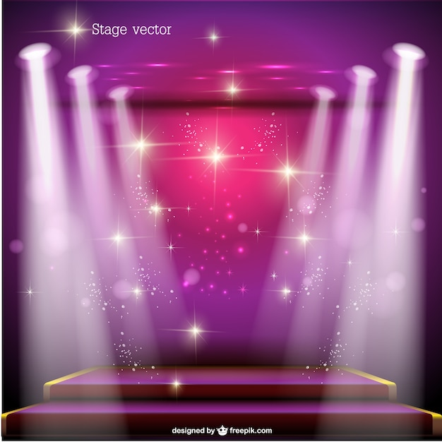 pink spotlight stage vector free download
