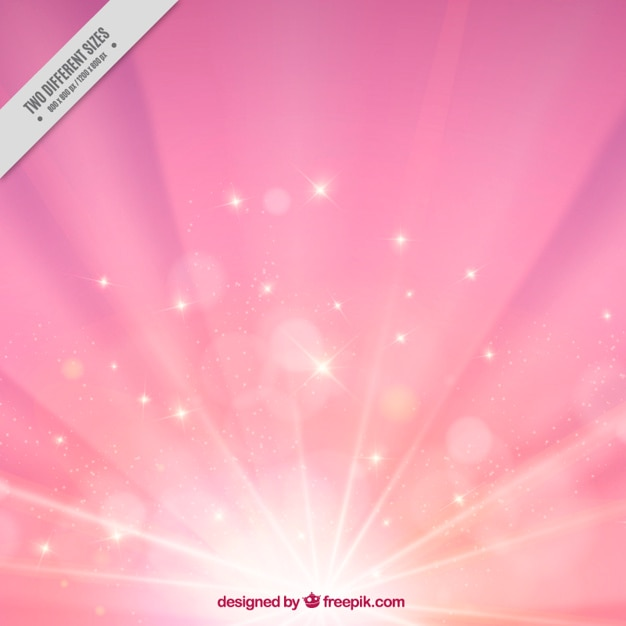Pink sunburst background Free Vector