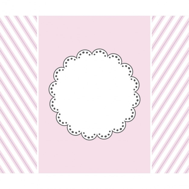 Pink Template Design For Greeting Card Vector