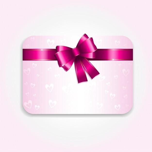 pink valentine card vector  free download