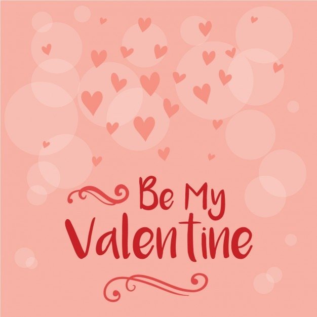 Pink Valentine Day Background Vector | Free Download