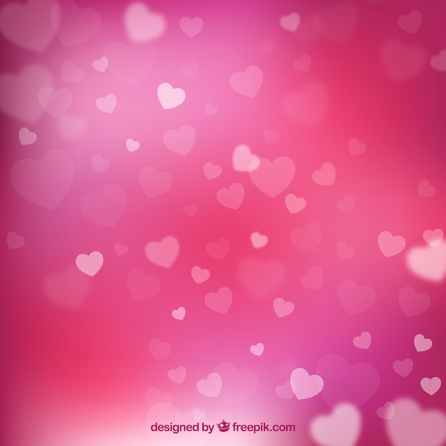Pink Valentines Day Background Vector Free Download