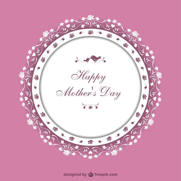 Pink vintage Mother\'s Day card
