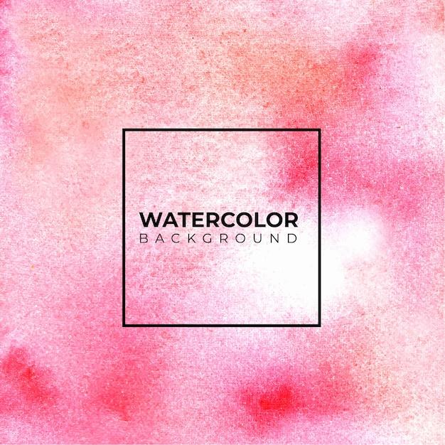 ピンクの水彩背景ハンドペイント。色しぶき Premiumベクター