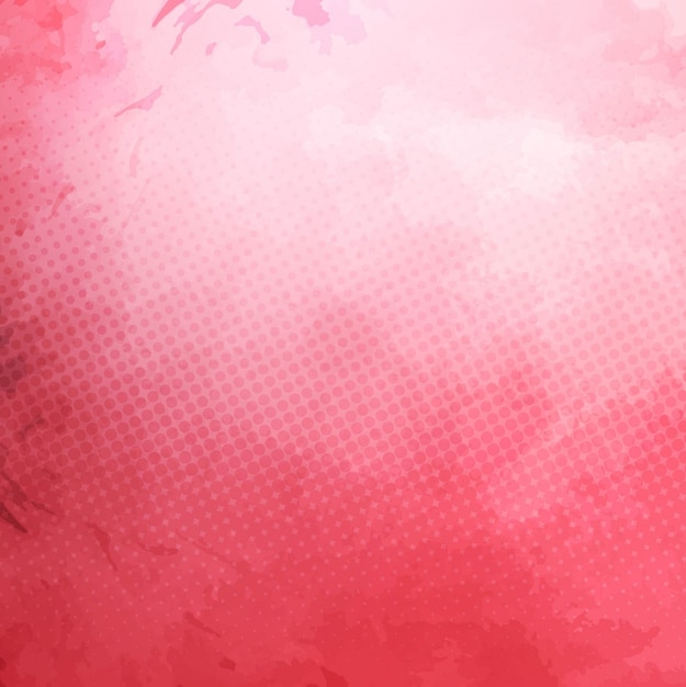 Pink watercolor background with dots Free Vector