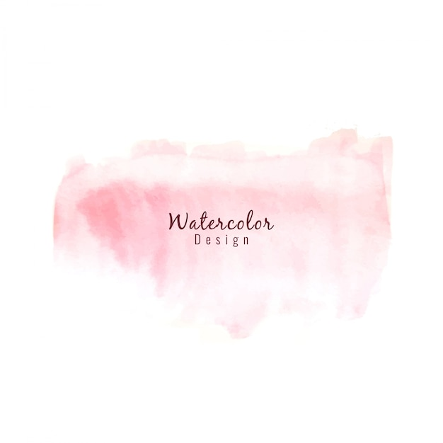 Pink watercolor design background Free Vector