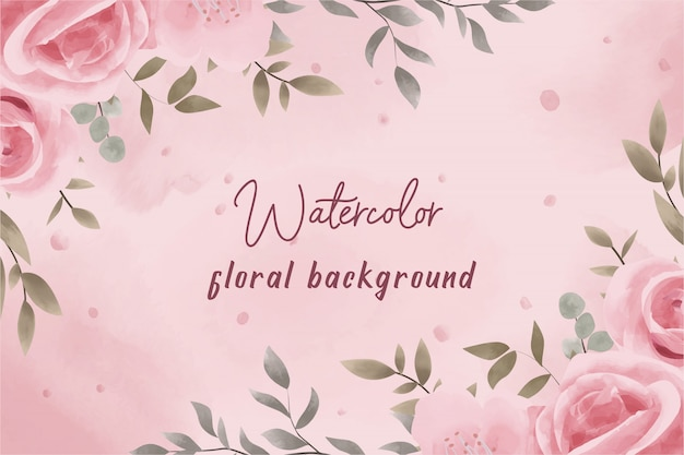 premium vector pink watercolor floral background with vintage style https www freepik com profile preagreement getstarted 5212172