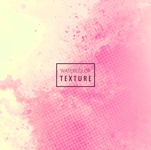 Pink watercolor grunge texture with dots Free Vector