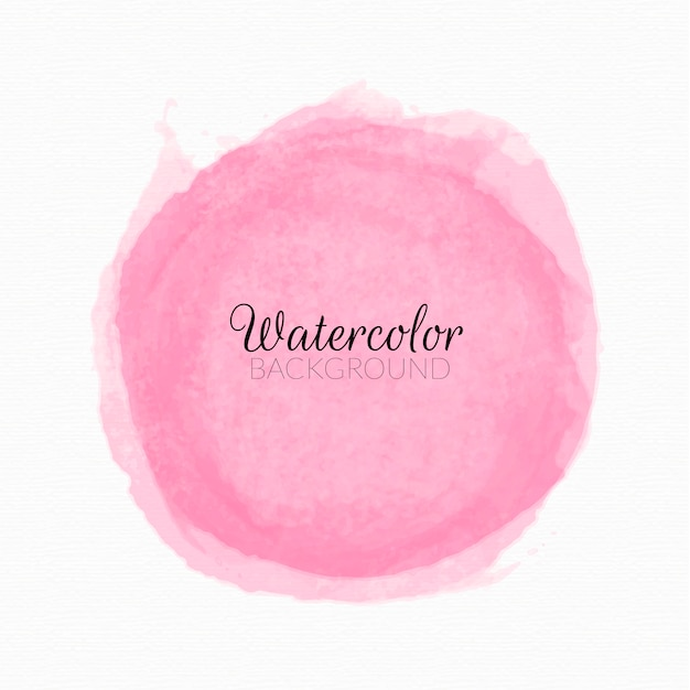 Pink watercolor paint stains background Free Vector
