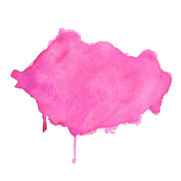 Pink watercolor stain abstract texture background design Free Vector