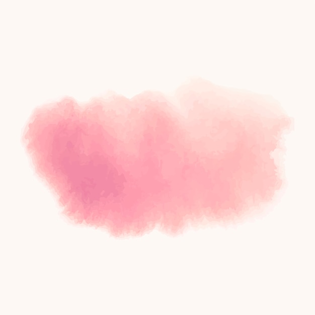 Pink watercolor style banner vector Free Vector