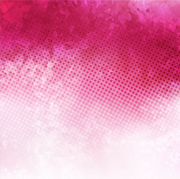 Pink watercolor with dots Free Vector