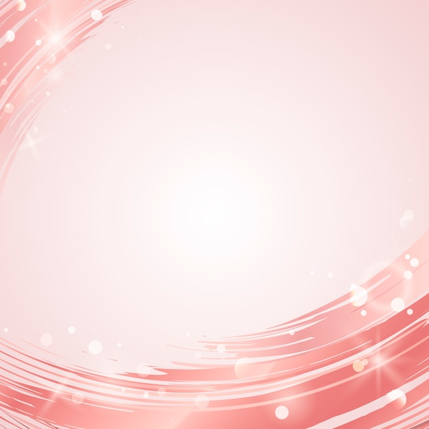 Pink wave abstract background vector Free Vector